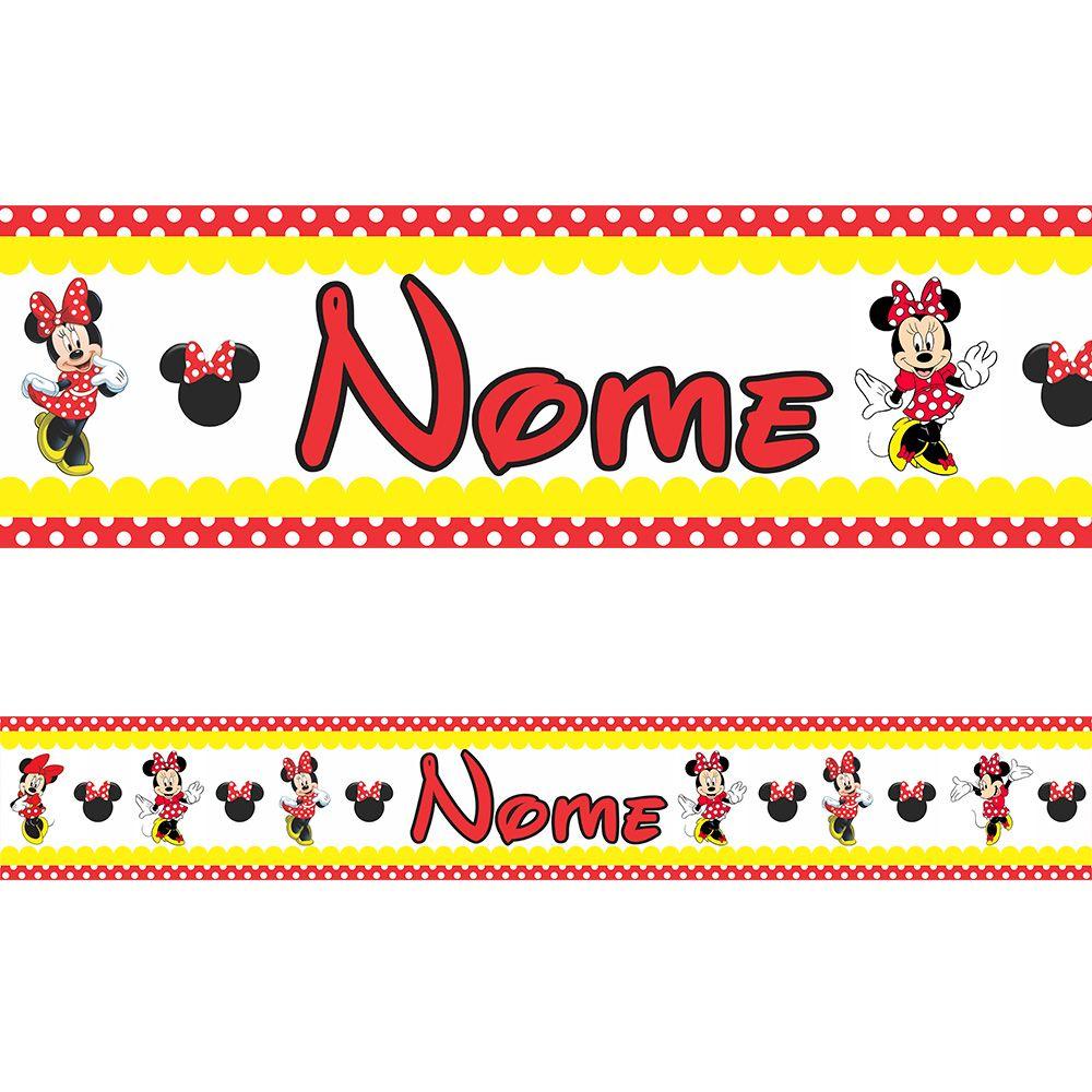 Faixa Personalizada Minnie Vermelha
