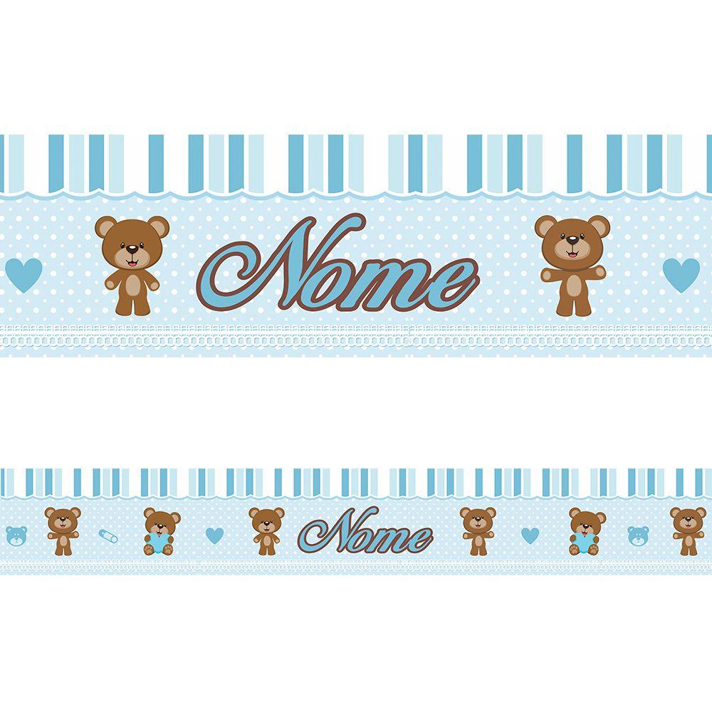 Faixa Personalizada Ursinho Azul