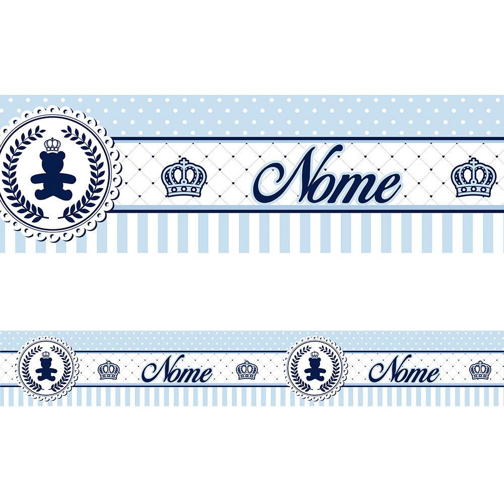 Faixa Personalizada Ursinho Coroa Azul