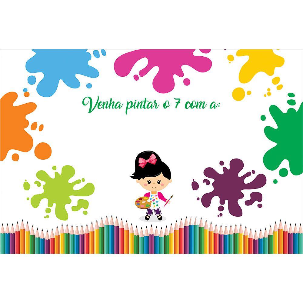 Kit Festa Painel Toalha Tapete em Lona Pintando o Sete