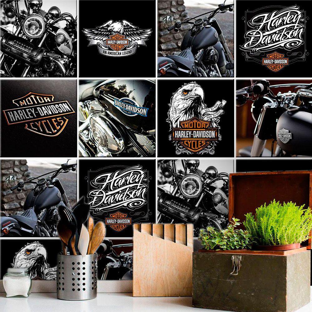 Papel de Parede Autoadesivo Harley Davidson
