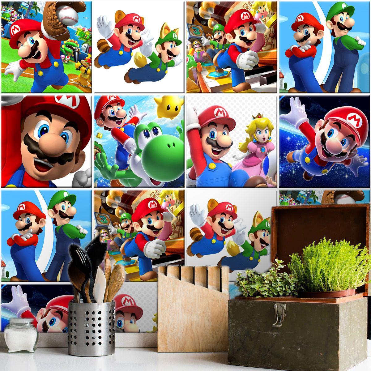 Papel de Parede Autoadesivo Super Mario Bros