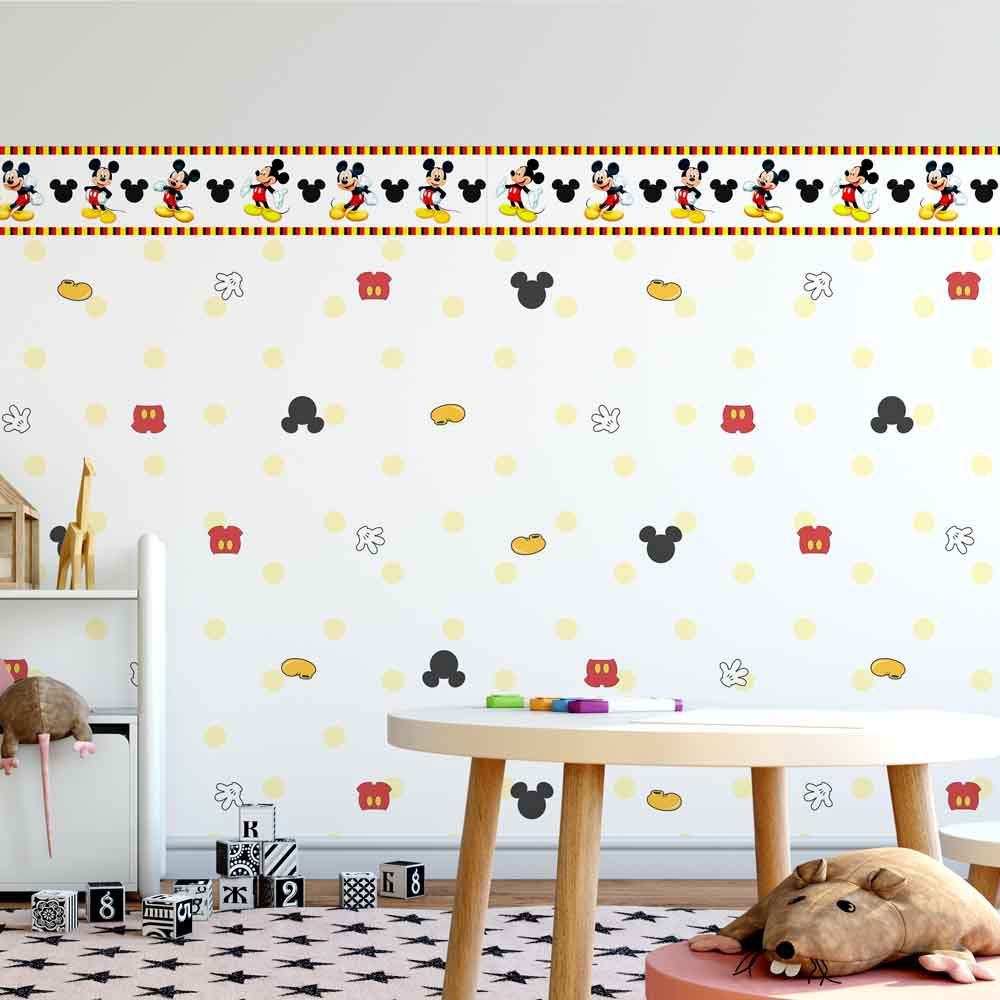 Papel Meia Parede Mickey Mouse