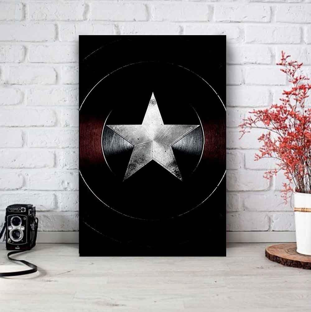 Placa Decorativa Personalizada Capitão América
