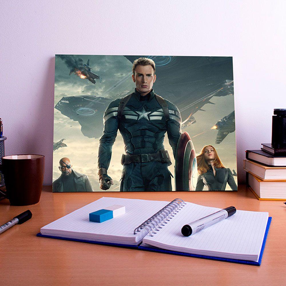 Placa Decorativa Personalizada Capitão América Filme