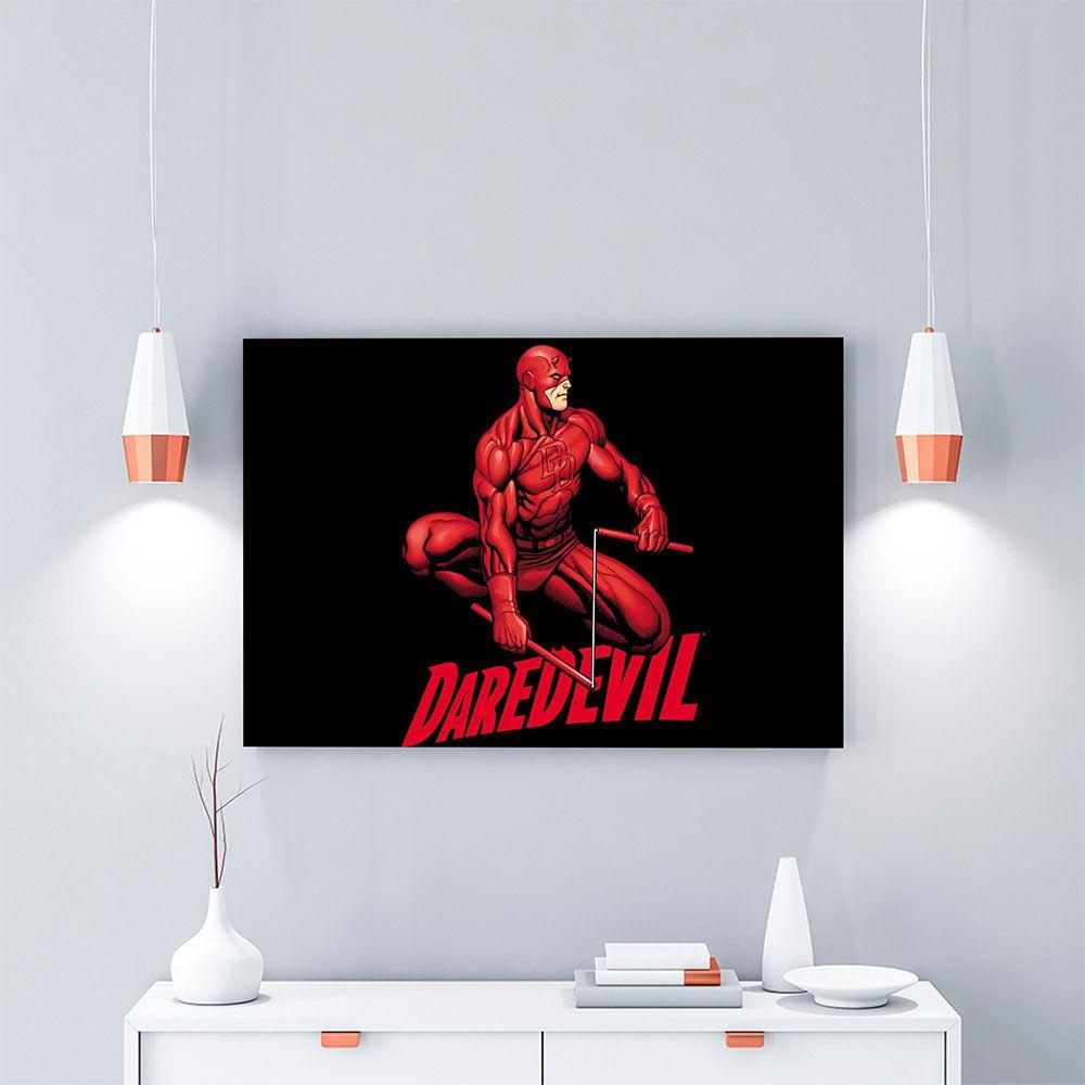 Placa Decorativa Personalizada Demolidor Vermelho