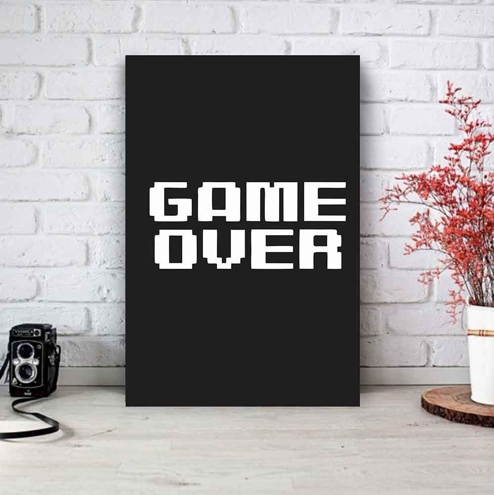Placa Decorativa Personalizada Game Over