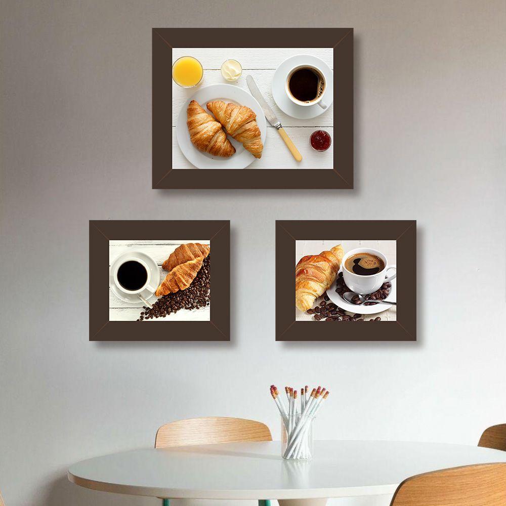 Quadro de Cozinha Café Preto com Pão