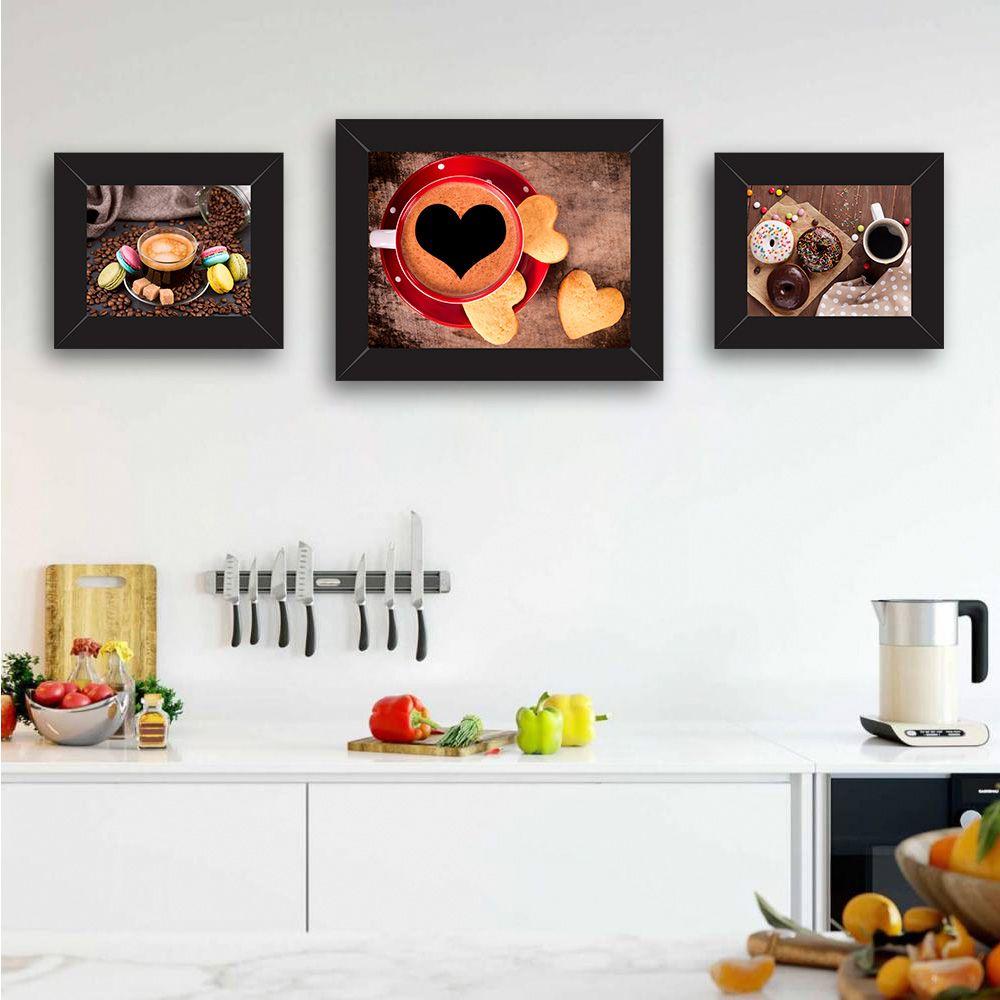 Quadro de Cozinha Café Xícara Vermelha Coração