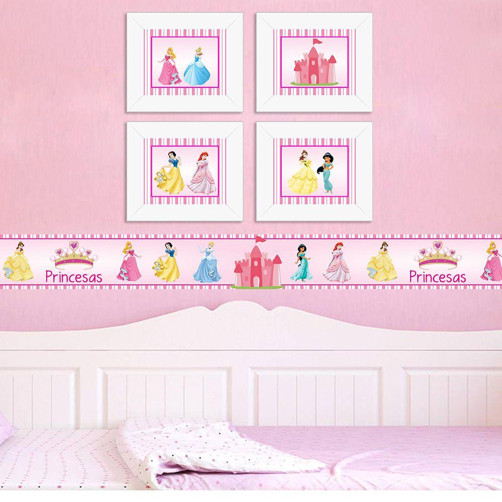 Quadro Infantil Princesas
