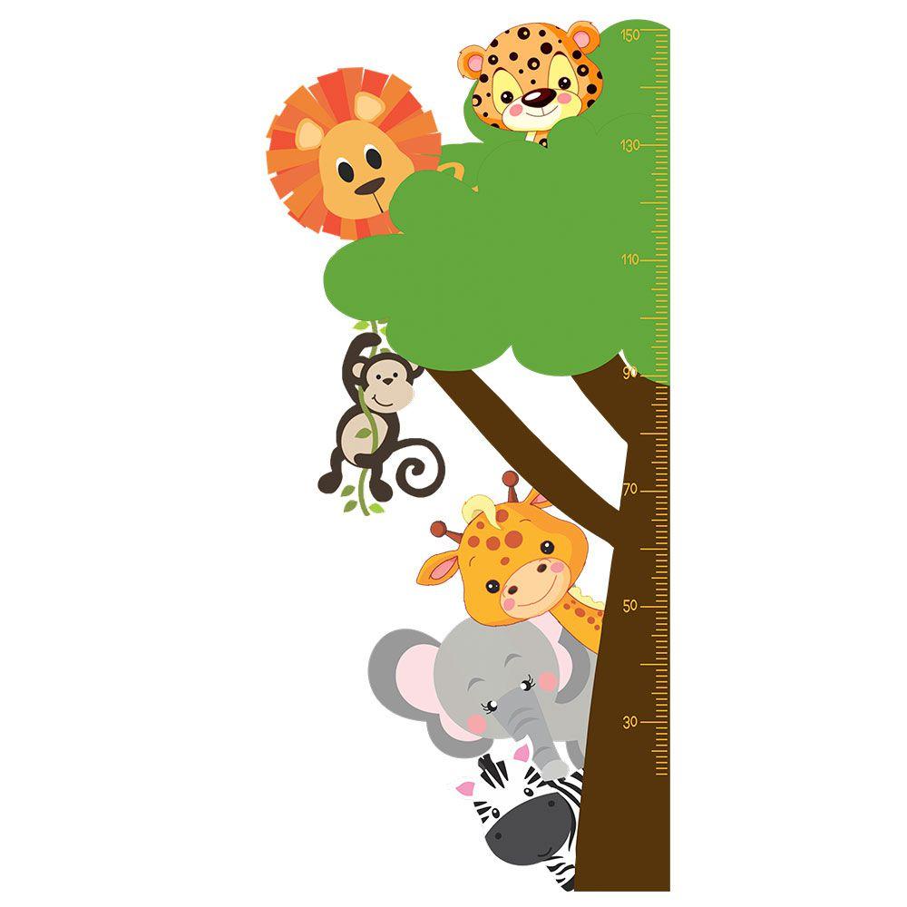 Régua Adesiva de Crescimento Safari Menino