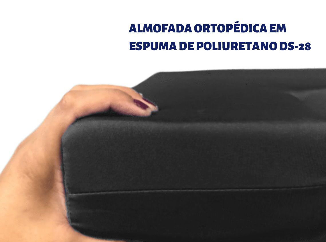 Almofada Ortopédica Quadrada com Orifício em Espuma DS 28 - Aquasonus