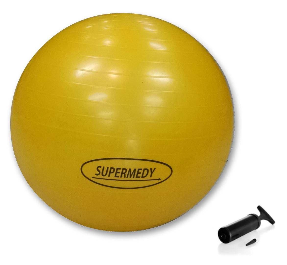 Bola de Ginástica Pilates, Funcional e Yoga 55 cm - SUPERMEDY