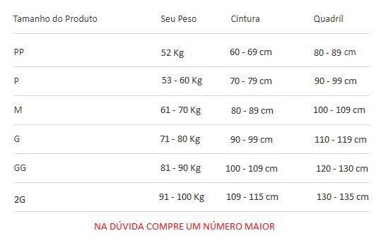 Cinta Modeladora Pós Cirúrgica Completa com Reforço no Culote  60402 Preta
