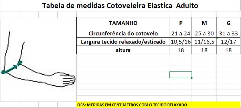 Cotoveleira Elástica Preta (Par) - Progne Sports
