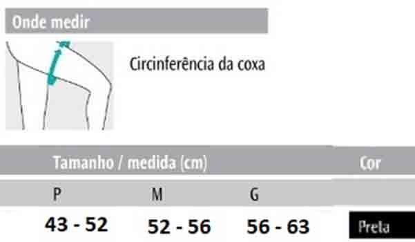 Coxal Elástico Preto (Par) - Progne Sports