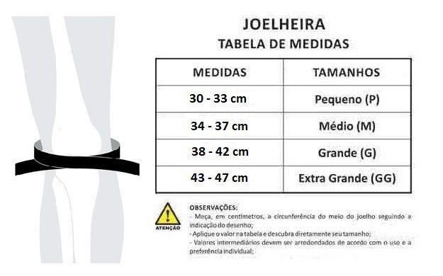 Joelheira Crossfit, LPO Neoprene 7mm Preta - Par