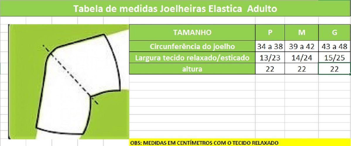 Kit Joelheira e Cotoveleira Acolchoada Elástica de VôleI, Futsal e MMA