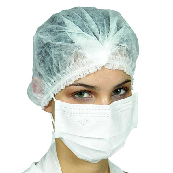 Máscara Cirúrgica Tripla Descartável Elástico Branca 50 unds ProtDesc