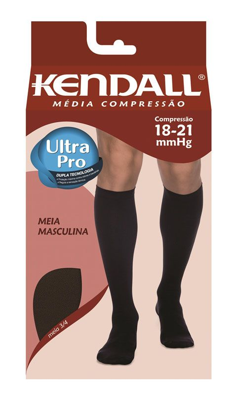 Meia 3/4 com Ponteira Média Compressão (18-21 mmHg) Masculina 1802 - Kendall®