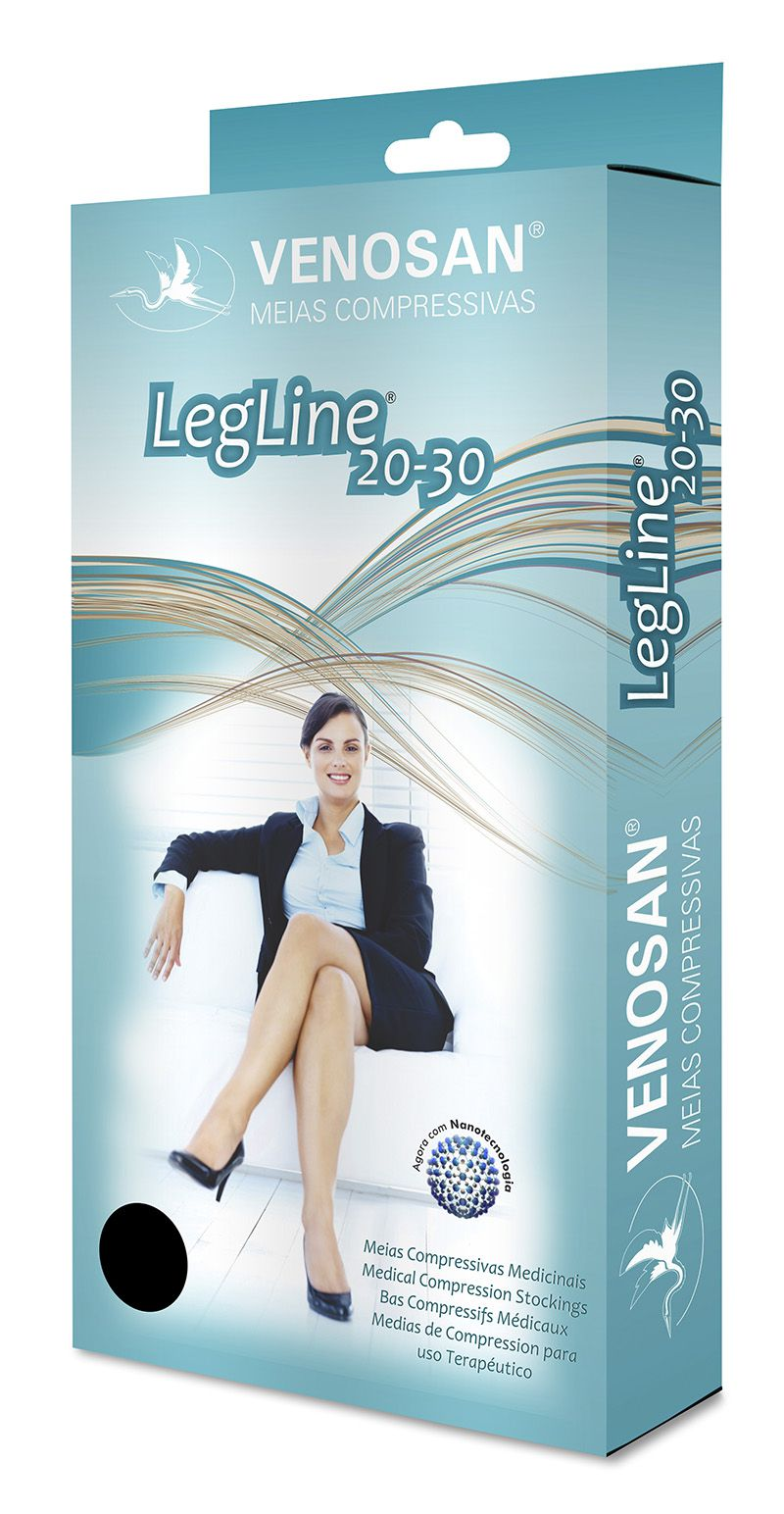 Meia 3/4 Média Compressão Aberta Olinda (20-30 mmHg) AD Legline - Venosan®