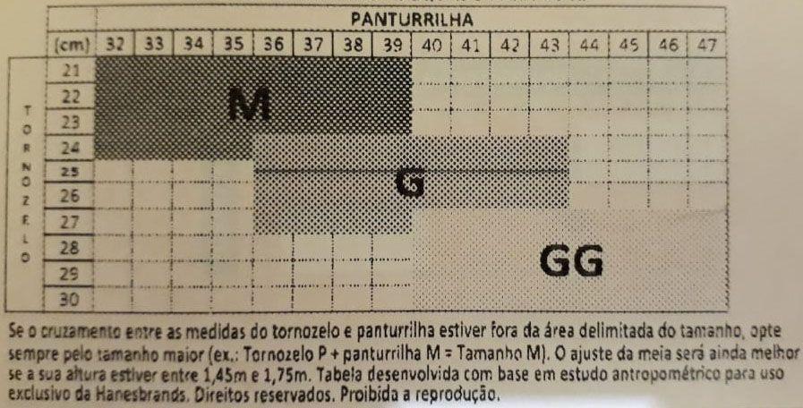5943e418a Meia 3 4 sem Ponteira Alta Compressão (20-30 mmHg) Feminina 1881 ...