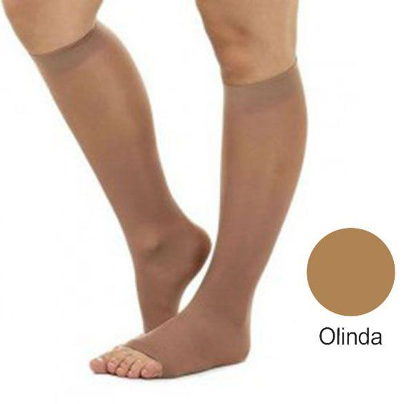 Meia 3/4 Suave Compressão Aberta Olinda (15-23 mmHg) AD Legline - Venosan®