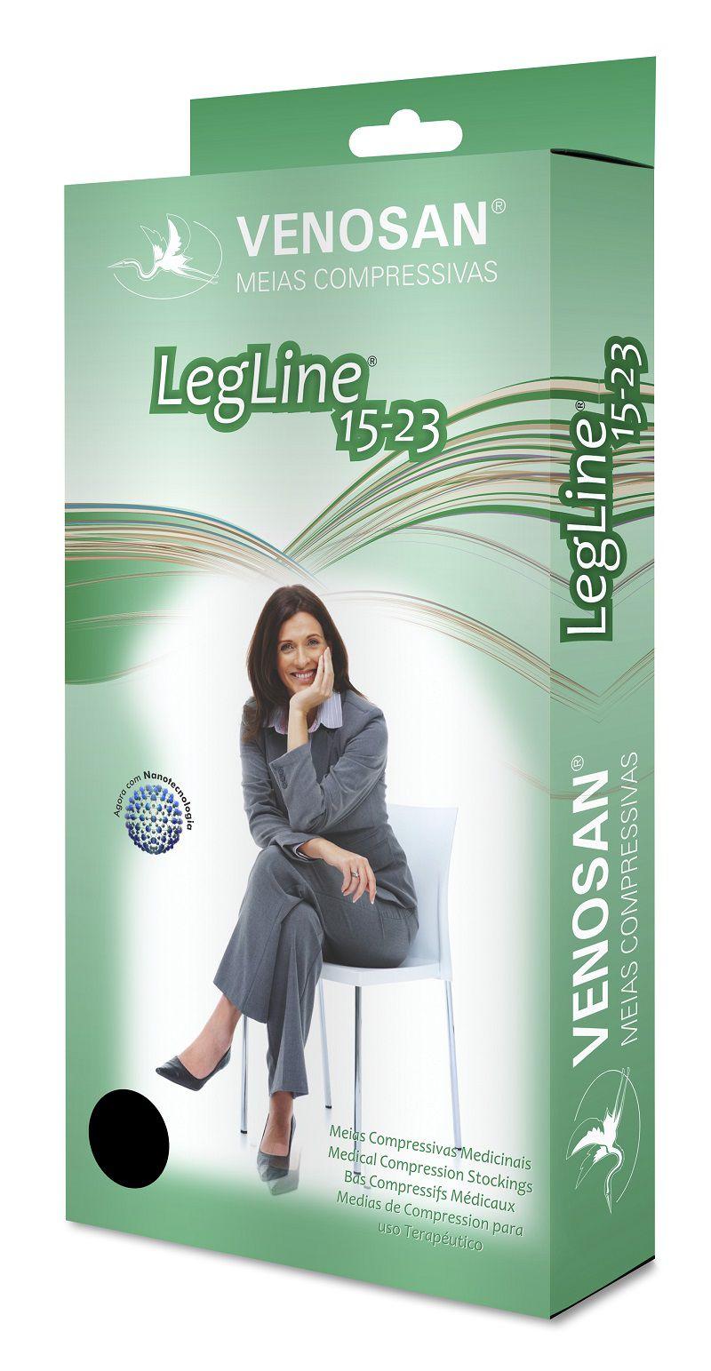 Meia 3/4 Suave Compressão Fechada Olinda (15-23 mmHg) AD Legline - Venosan®