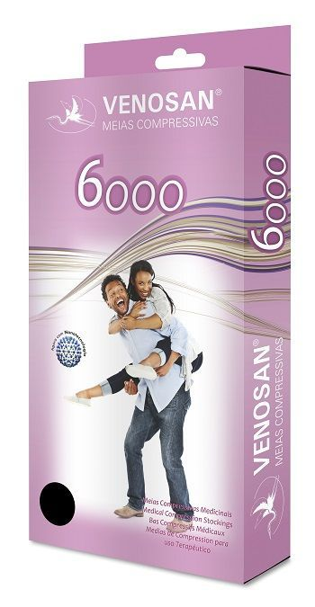 Meia 7/8 Média Compressão Aberta Bege (20-30 mmHg) AGH 6000 Unissex - Venosan®