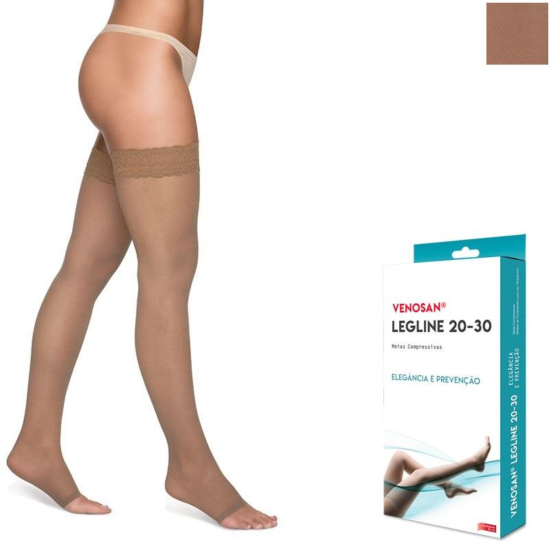 Meia 7/8 Média Compressão Aberta Olinda (20-30 mmHg) AGH Legline - Venosan®