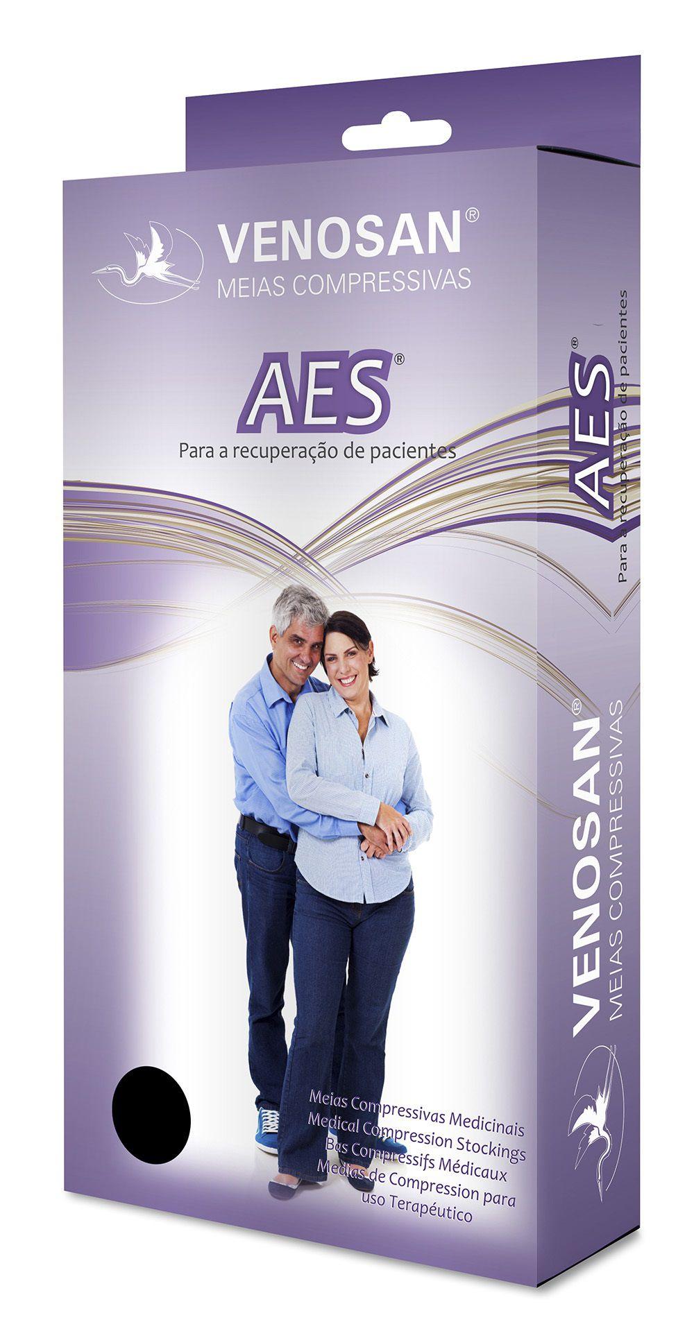 Meia Hospitalar 7/8 (Meia Coxa) Unissex Anti-trombo e Anti-embolia (18 mmHg) AGH Esterilizada AES - Venosan®