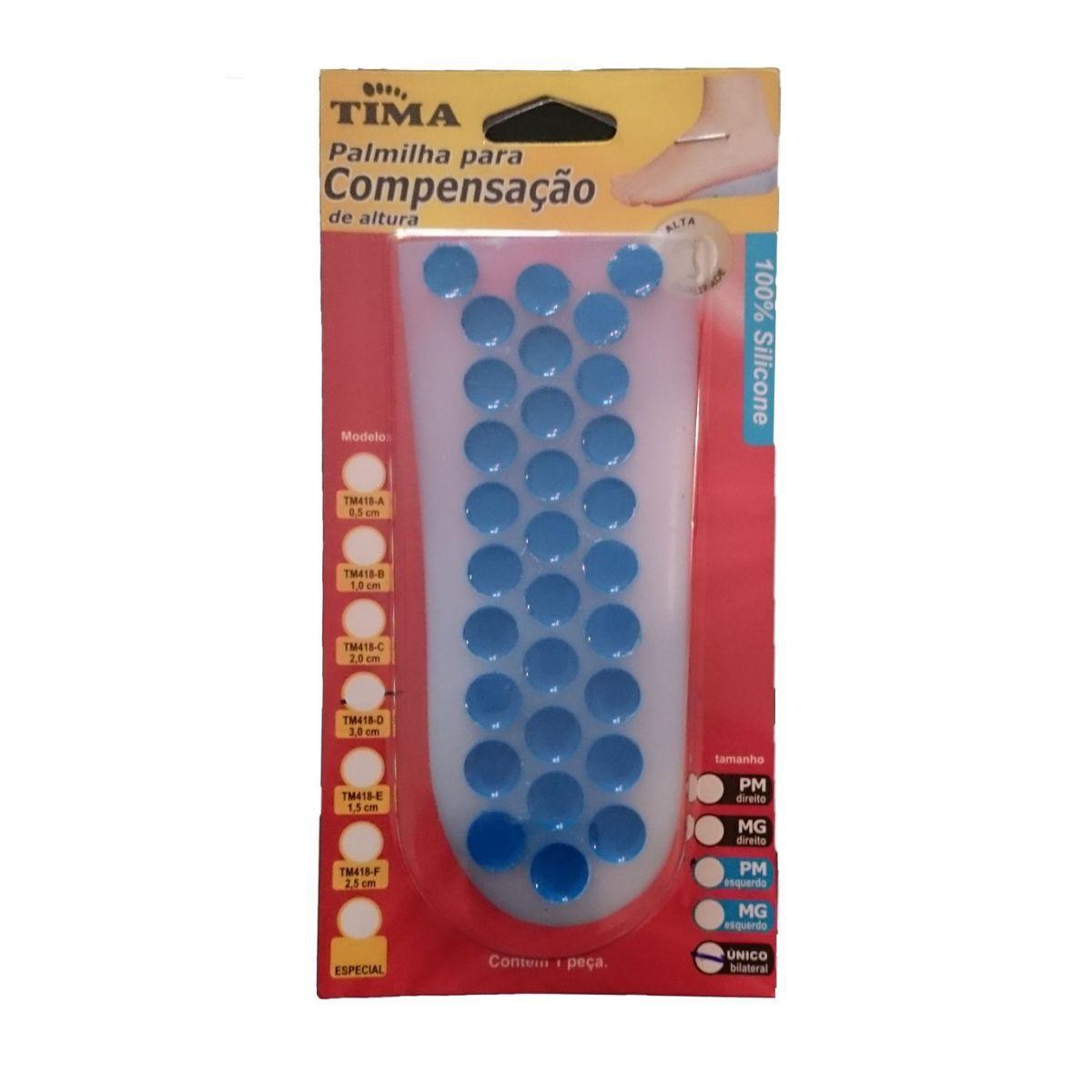 Palmilha 3/4 em Silicone para Compensação de Altura 3,0 cm Bilateral TM 418D