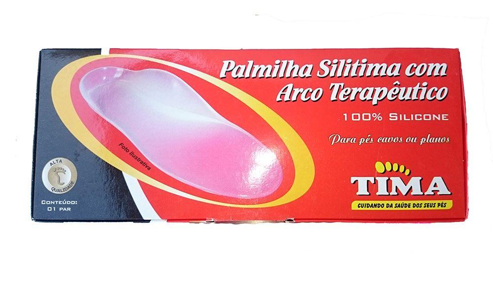 Palmilha de Silicone com Arco Elevado Pés Cavos ou Planos - Par - TM 417