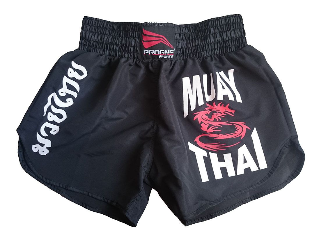 Short Muay Thai Feminino Preto Progne Sports