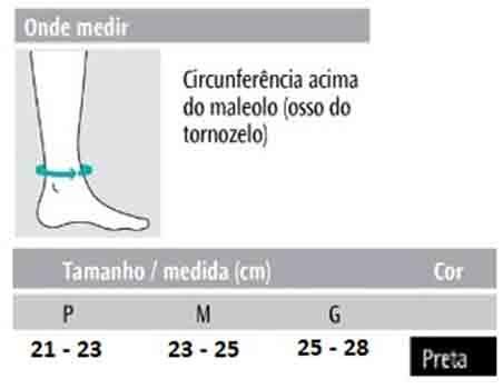 Tornozeleira Elástica Preta (Par) - Progne Sports
