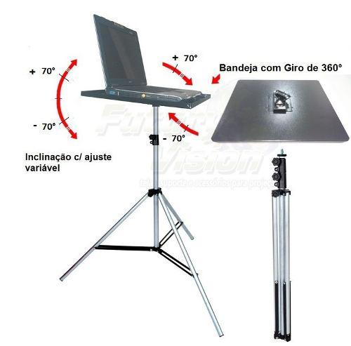 Suporte Tripé Bandeja P/ Projetor E Notebook, Telas Projeção