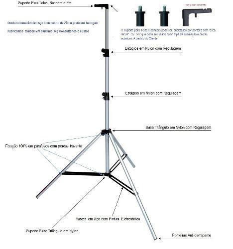 Tripé P/ Telas De Projeção 3,1metros Promoção
