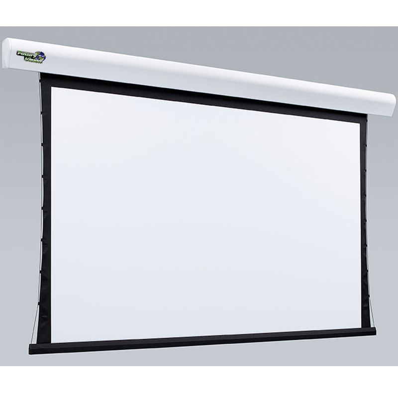 Kit Tela Projeção 119'' Widescreen 16:9, Moldura De Acabamento, Lift Modelo 34x34 com Sensor de Corrente Duplo