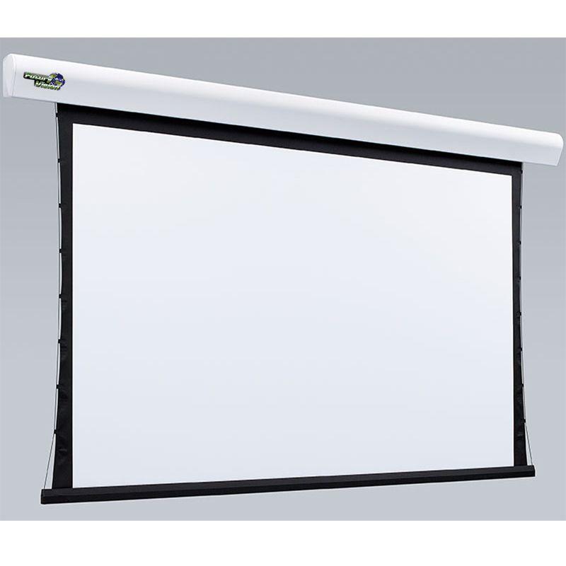 Kit Tela Projeção 133'' Widescreen 16:9, Moldura De Acabamento, Lift Modelo 34x34 com Sensor de Corrente Duplo