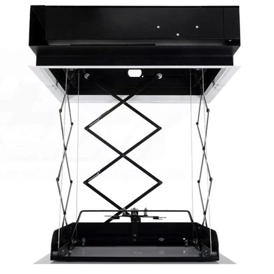 Kit Tela Projeção 100'' Widescreen 16:9 Moldura De Acabamento Lift Modelo 34x34 com Sensor de Corrente Duplo