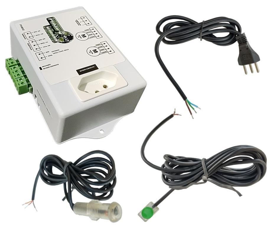 Kit Tela Projeção 100'' Widescreen 16:9, Moldura De Acabamento, Lift Modelo 54x54, e Sensor de Corrente Duplo