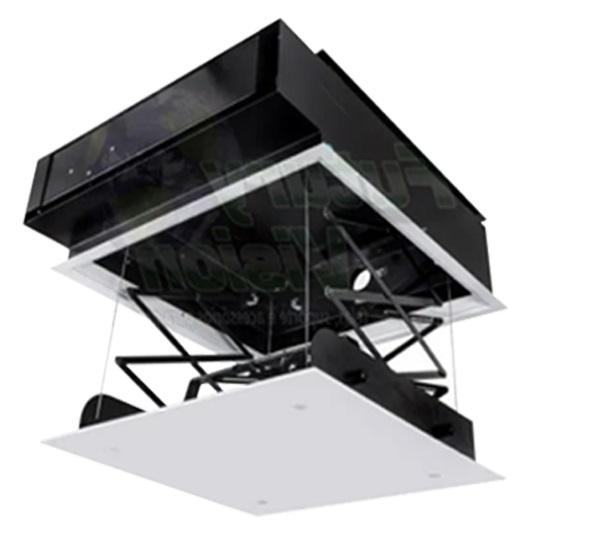 Kit Tela Projeção 72'' Widescreen 16:9, Moldura De Acabamento, Lift Modelo 32x32 com Sensor de Corrente Duplo