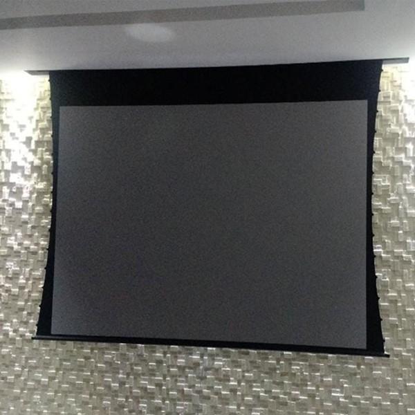 Tela de Projeção Elétrica Tensionada High Contrast 100'' Formato Widescreen 16:9 com Controle Remoto