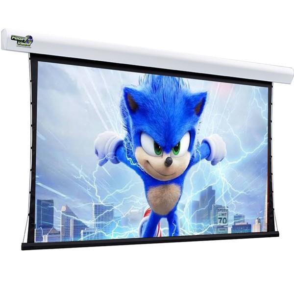 Tela de Projeção Elétrica Tensionada Matte White 130'' Formato Widescreen 16:10 com Controle Remoto