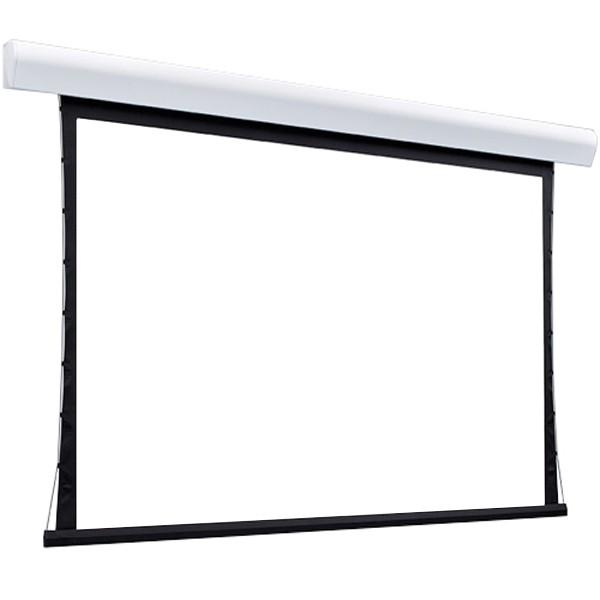 Tela de Projeção Elétrica Tensionada Matte White 150'' Formato Widescreen 16:10 com Controle Remoto