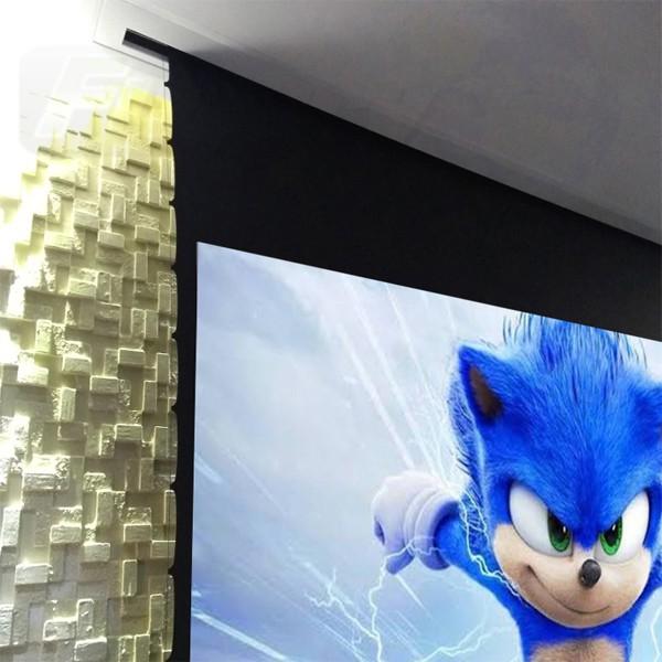 Tela de Projeção Elétrica Tensionada Matte White 80'' Formato Widescreen 16:10 com Controle Remoto