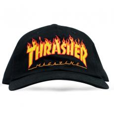 Boné Thrasher Dad Hat Flame Preto