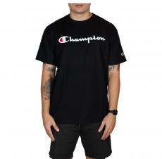 Camiseta Champion 5 Oz Script Logo Print - Preto GT23B Y06794B