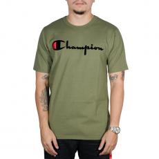 Camiseta Champion Direct Flock Script Verde Militar