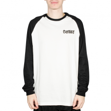 Camiseta Creature Raglan Frank Manga Longa Branca